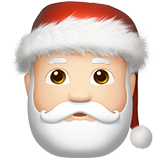 Santa Claus: Light Skin Tone on Apple iOS 10.0