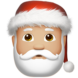 Santa Claus: Medium-Light Skin Tone on Apple iOS 10.0