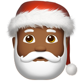 Santa Claus: Medium-Dark Skin Tone on Apple iOS 10.0