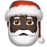Santa Claus: Dark Skin Tone on Apple iOS 10.0
