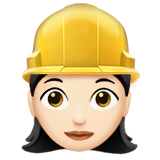 Woman Construction Worker: Light Skin Tone on Apple iOS 10.0