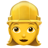 Woman Construction Worker on Apple iOS 10.0