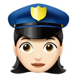 Woman Police Officer: Light Skin Tone on Apple iOS 10.0