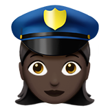 Woman Police Officer: Dark Skin Tone on Apple iOS 10.0