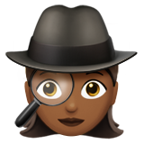 Woman Detective: Medium-Dark Skin Tone on Apple iOS 10.0
