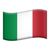 Flag: Italy on Apple iOS 10.0