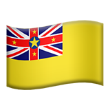 Flag: Niue on Apple iOS 10.0