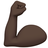 Flexed Biceps: Dark Skin Tone on Apple iOS 10.0