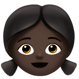 Girl: Dark Skin Tone on Apple iOS 10.0