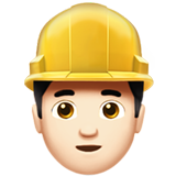 Man Construction Worker: Light Skin Tone on Apple iOS 10.0