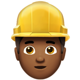 Man Construction Worker: Medium-Dark Skin Tone on Apple iOS 10.0