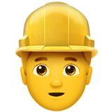 Man Construction Worker on Apple iOS 10.0