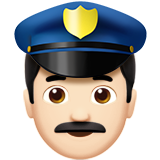Man Police Officer: Light Skin Tone on Apple iOS 10.0