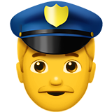 Man Police Officer on Apple iOS 10.0