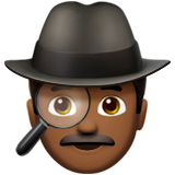 Man Detective: Medium-Dark Skin Tone on Apple iOS 10.0