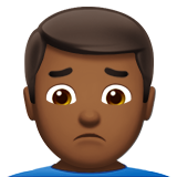 Man Frowning: Medium-Dark Skin Tone on Apple iOS 10.0