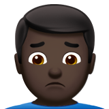 Man Frowning: Dark Skin Tone on Apple iOS 10.0
