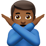 Man Gesturing No: Medium-Dark Skin Tone on Apple iOS 10.0