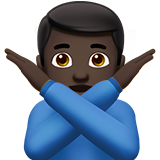 Man Gesturing No: Dark Skin Tone on Apple iOS 10.0