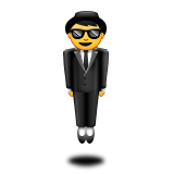 Person in Suit Levitating on Apple iOS 10.0