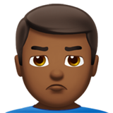 Man Pouting: Medium-Dark Skin Tone on Apple iOS 10.0