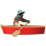 Man Rowing Boat: Dark Skin Tone on Apple iOS 10.0