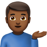 Man Tipping Hand: Medium-Dark Skin Tone on Apple iOS 10.0
