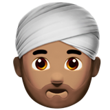 Man Wearing Turban: Medium Skin Tone on Apple iOS 10.0