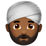 Man Wearing Turban: Medium-Dark Skin Tone on Apple iOS 10.0