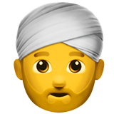 Man Wearing Turban on Apple iOS 10.0