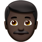 Man: Dark Skin Tone on Apple iOS 10.0