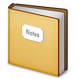 Notebook with Decorative Cover on Apple iOS 10.0