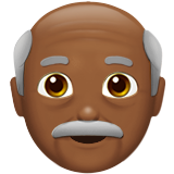 Old Man: Medium-Dark Skin Tone on Apple iOS 10.0