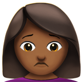 Person Frowning: Medium-Dark Skin Tone on Apple iOS 10.0