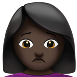 Person Frowning: Dark Skin Tone on Apple iOS 10.0