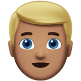 Person: Medium Skin Tone, Blond Hair on Apple iOS 10.0