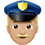 Police Officer: Medium-Light Skin Tone on Apple iOS 10.0