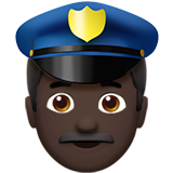 Police Officer: Dark Skin Tone on Apple iOS 10.0