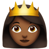 Princess: Medium-Dark Skin Tone on Apple iOS 10.0