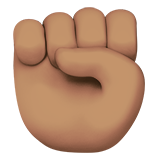 Raised Fist: Medium Skin Tone on Apple iOS 10.0