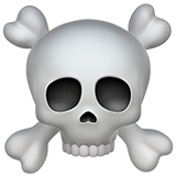 Skull and Crossbones on Apple iOS 10.0