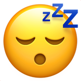 Sleeping Face on Apple iOS 10.0