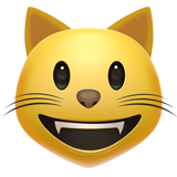 Grinning Cat Face on Apple iOS 10.0