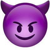 Smiling Face With Horns on Apple iOS 10.0