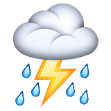 Thunder Cloud Roblox Cloud With Lightning And Rain Emoji On Apple Ios 10 0
