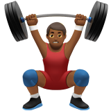 Person Lifting Weights: Medium-Dark Skin Tone on Apple iOS 10.0