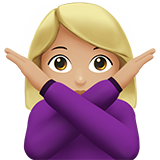 Woman Gesturing No: Medium-Light Skin Tone on Apple iOS 10.0