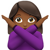 Woman Gesturing No: Medium-Dark Skin Tone on Apple iOS 10.0