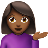 Woman Tipping Hand: Medium-Dark Skin Tone on Apple iOS 10.0