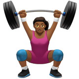 Woman Lifting Weights: Medium-Dark Skin Tone on Apple iOS 10.0